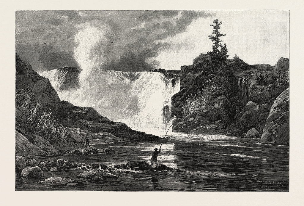 Detail of French Canadian Life, Falls of the Chaudiere Near Quebec, Canada by Anonymous