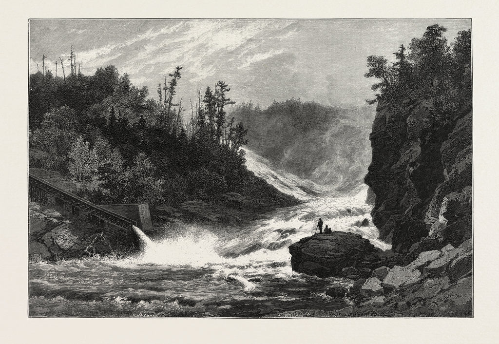 Detail of French Canadian Life, Shawenegan Falls, Canada by Anonymous