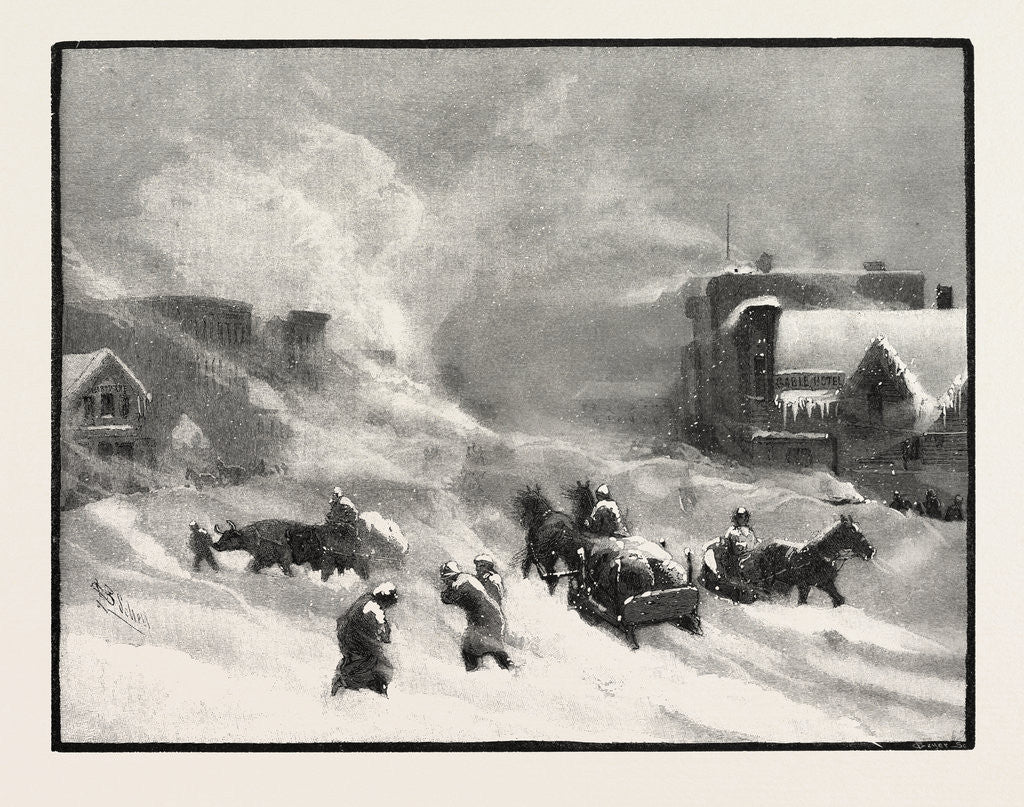 Detail of A Blizzard in Winnipeg, Canada by Anonymous