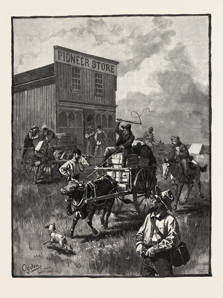 Detail of A Pioneer Store, Canada by Anonymous