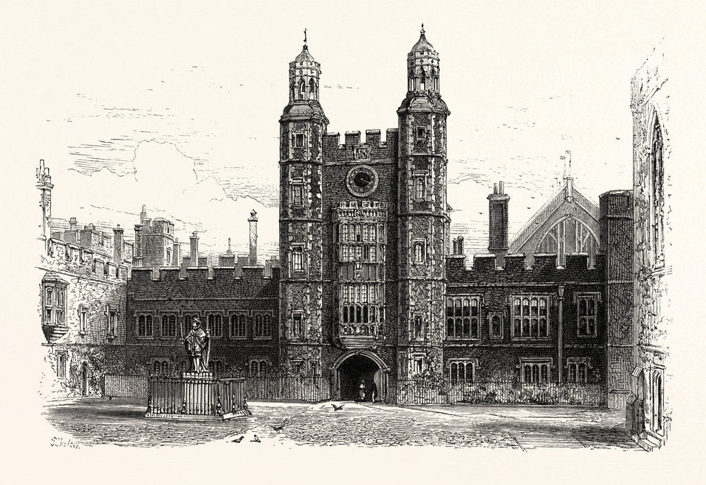 Detail of Interior of the Quadrangle, Eton College by Anonymous