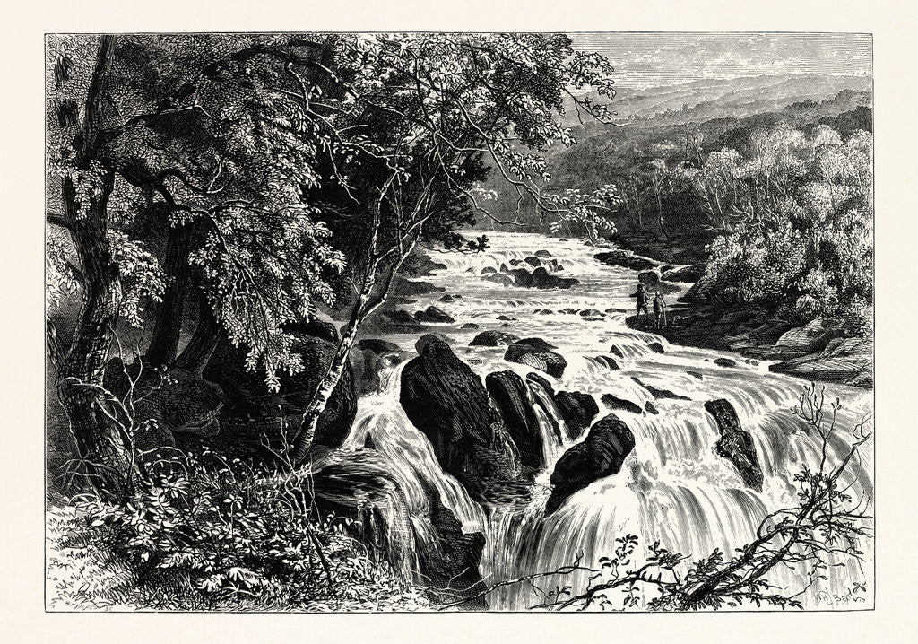 Detail of At the Head of the Swallow Falls by Anonymous