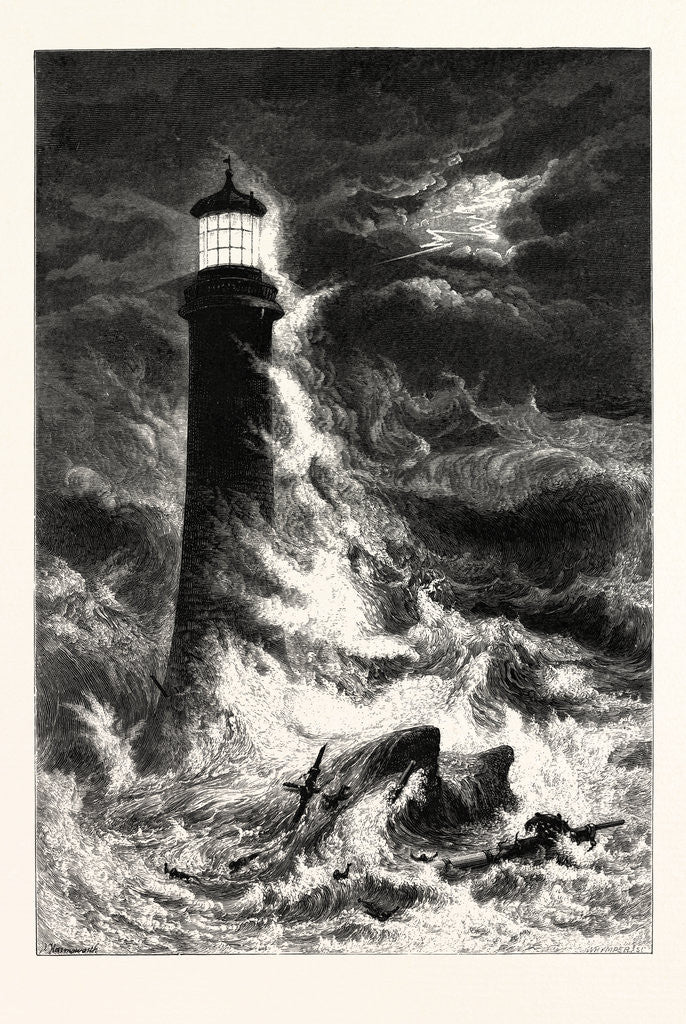 Detail of Eddystone Lighthouse by Anonymous