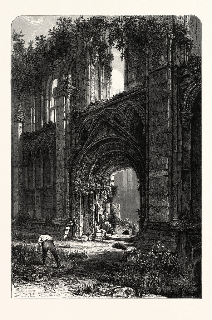 Detail of Glastonbury Abbey by Anonymous