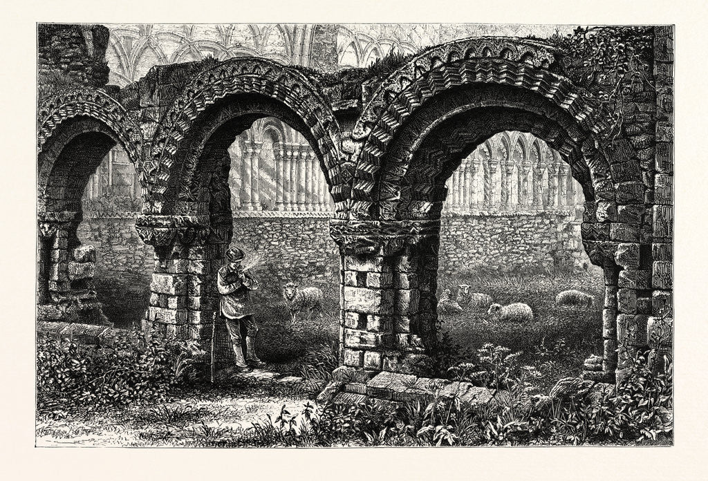 Detail of Chapter House, Much Wenlock Abbey by Anonymous