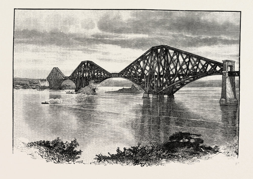 Detail of Forth Bridge, from the South-West by Anonymous