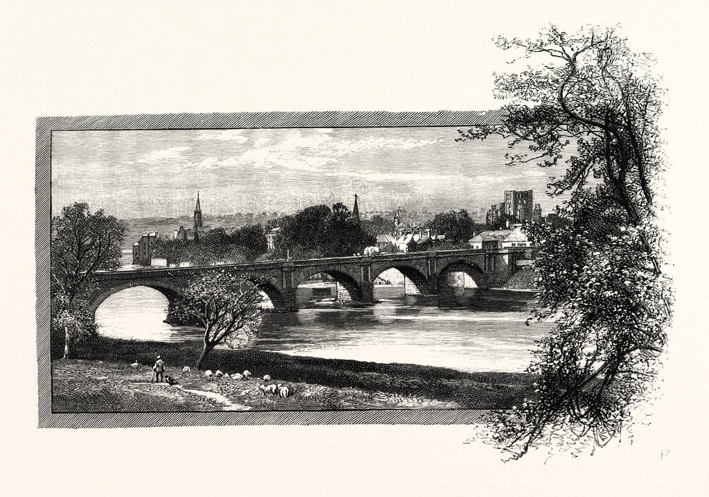 Detail of Kelso, with Rennie's Bridge by Anonymous