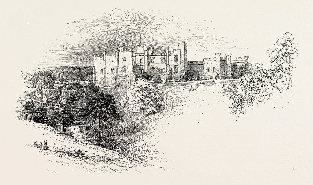 Detail of Brancepeth Castle by Anonymous