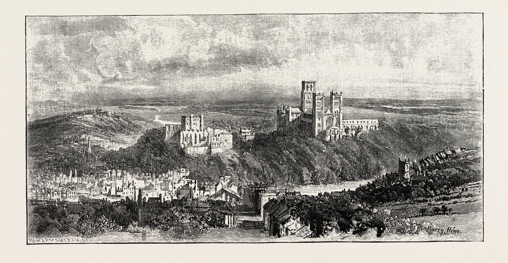 Detail of Distant View of Durham by Anonymous