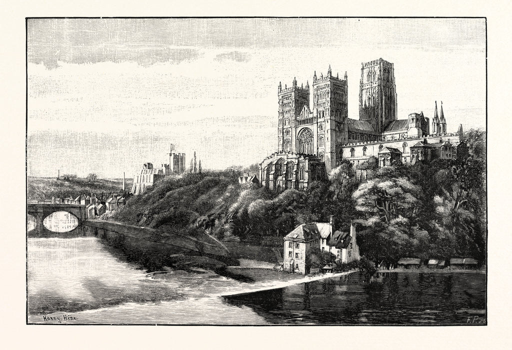 Detail of Durham Cathedral and Castle by Anonymous