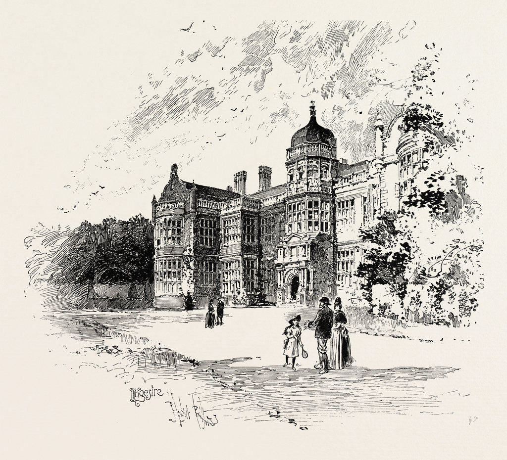 Detail of Ingestre Hall by Anonymous