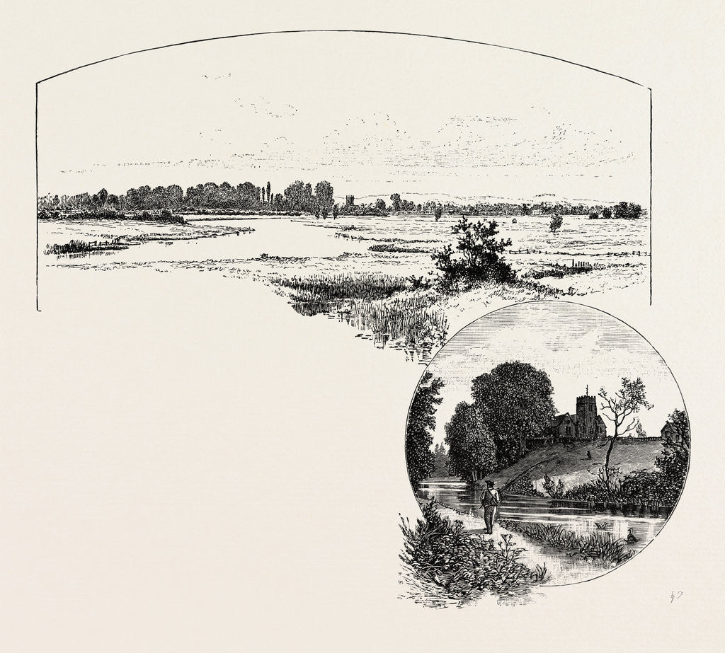 Detail of From the Meadows Near Alrewas by Anonymous