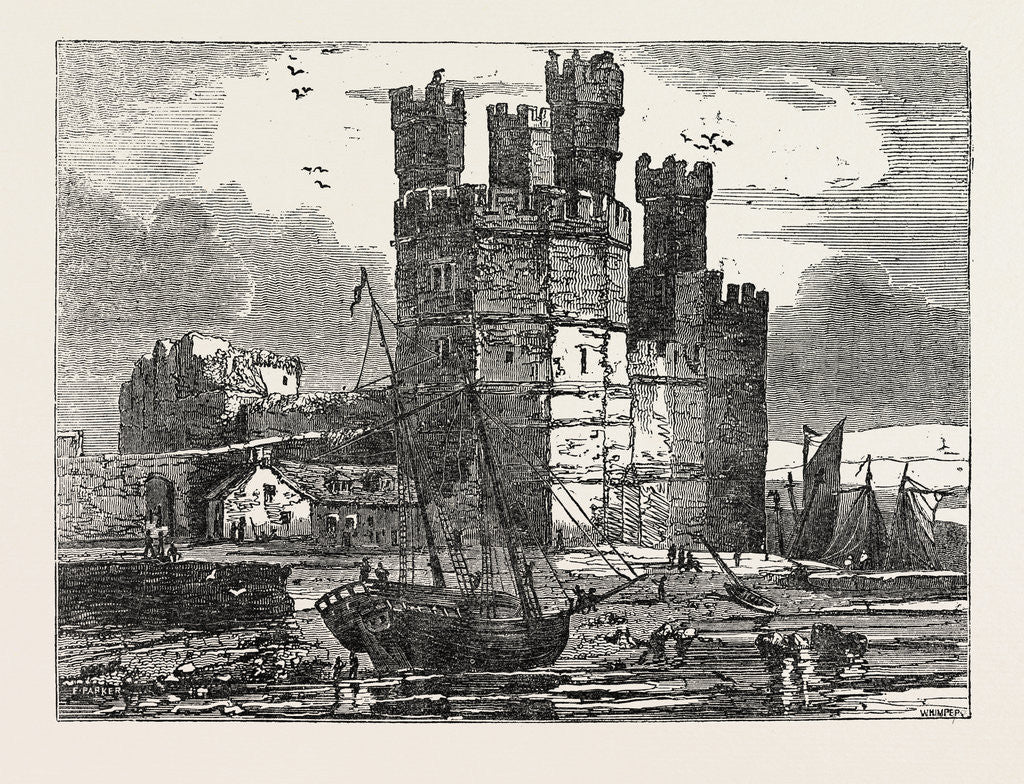 Detail of Caernarvon Castle, North Wales by Anonymous
