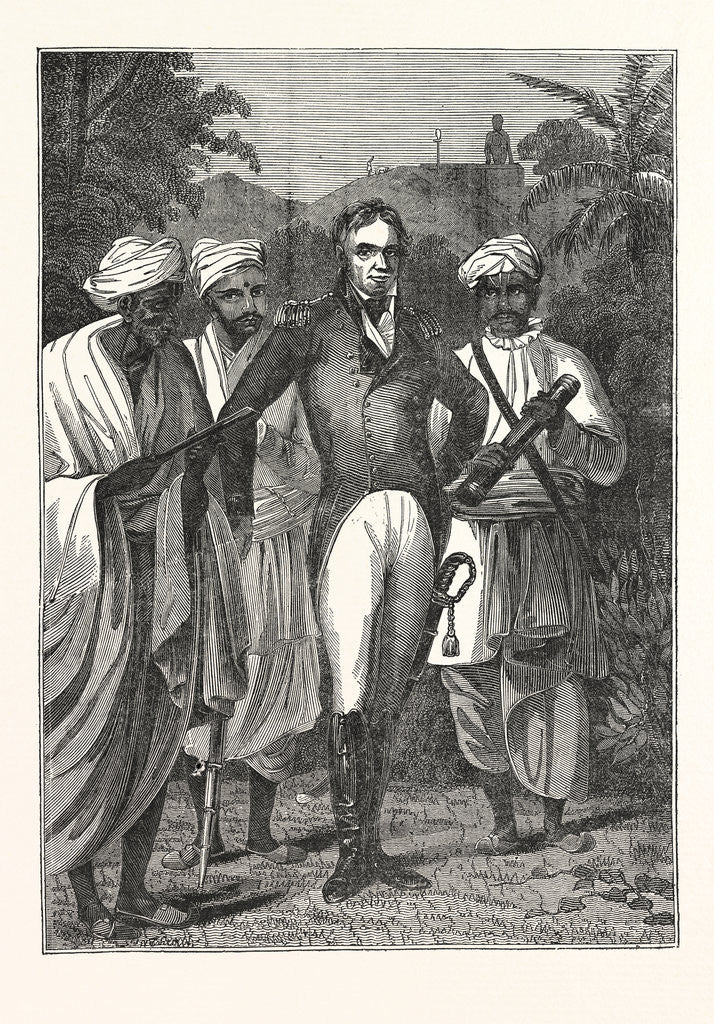 Detail of Colonel Mackenzie and the Brahmins by Anonymous