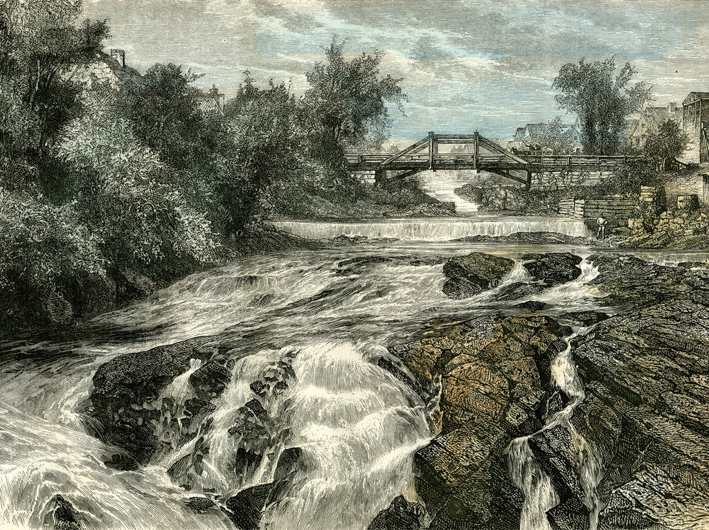 Detail of Falls of Lorette Canada 19th Century by Anonymous