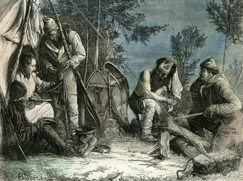 Detail of Hunt Canada 1873 by Anonymous