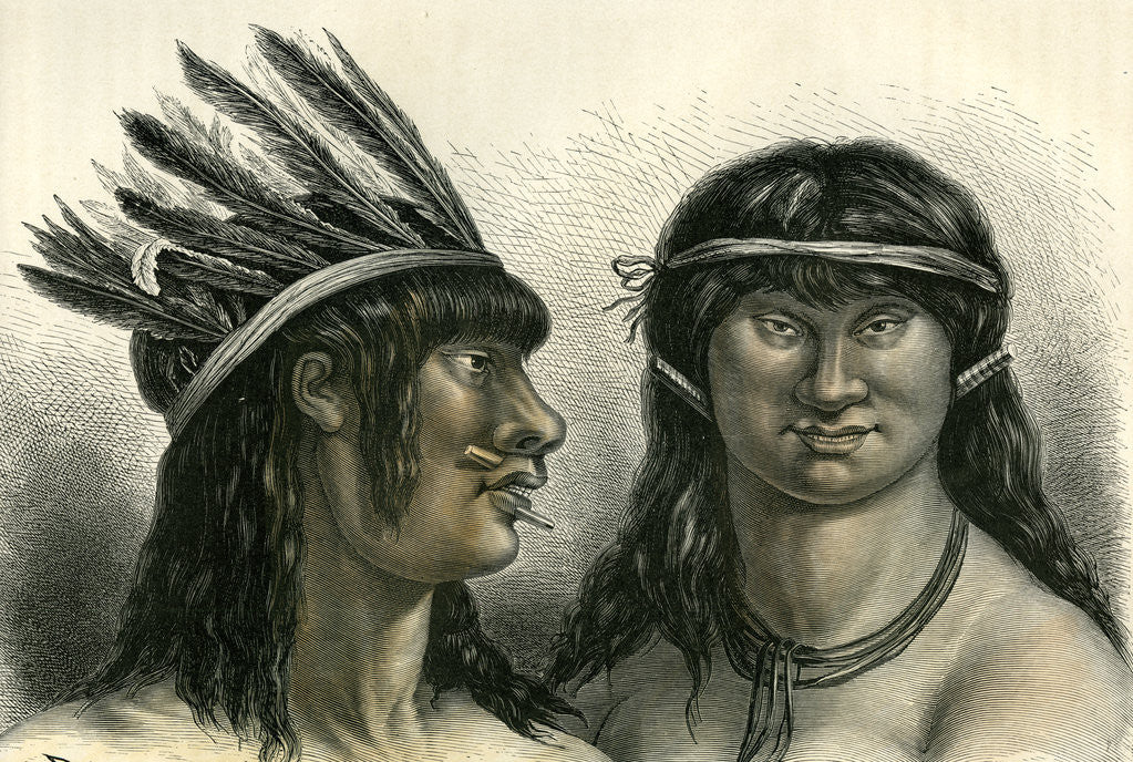 Detail of Indians 1869 Peru by Anonymous