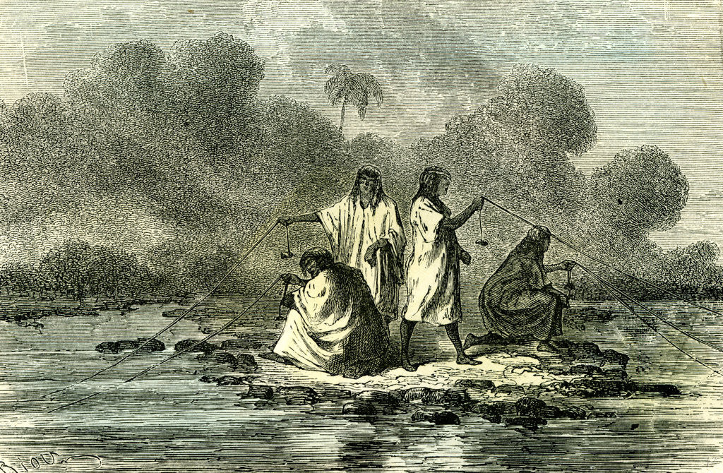 Detail of Chontaquiros Indians 1869 Peru Fishing by Anonymous