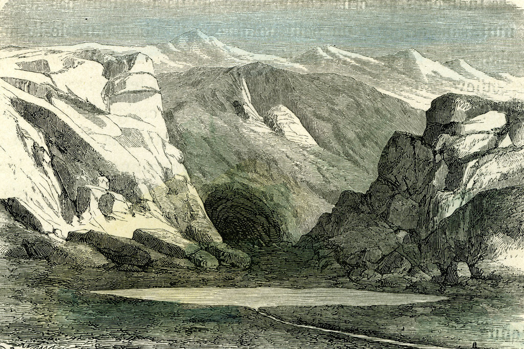 Detail of Apurimac River Source 1869 Peru by Anonymous