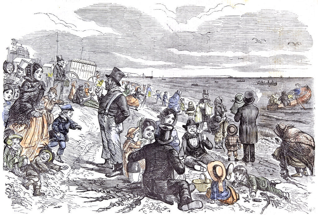 Detail of Eight Hours at the Sea-Side J. Leech Children Brighton 1856 by Anonymous