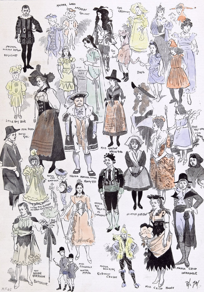 Detail of Children's Fancy Dress at the Mansion House 1892 by Anonymous