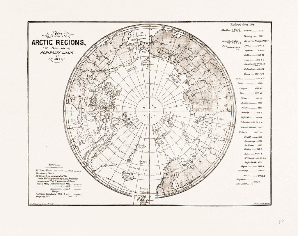 The Arctic Expedition: Chart Of The Polar Regions, 1875