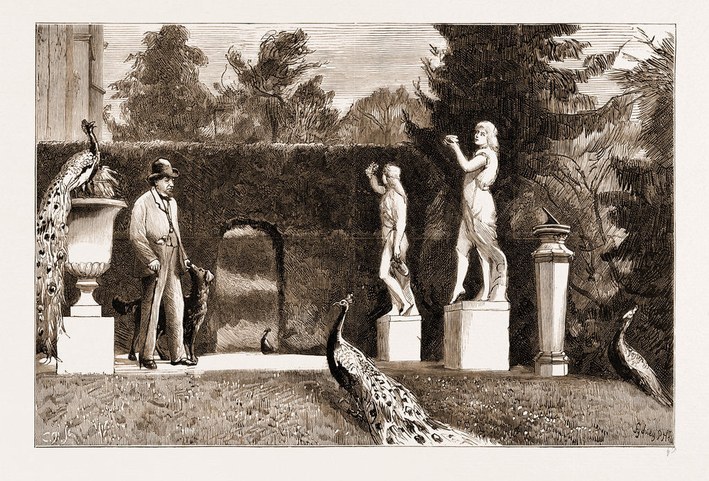 The Funeral Of The Late Earl Of Beaconsfield, Notes At Hughenden: On The Terrace