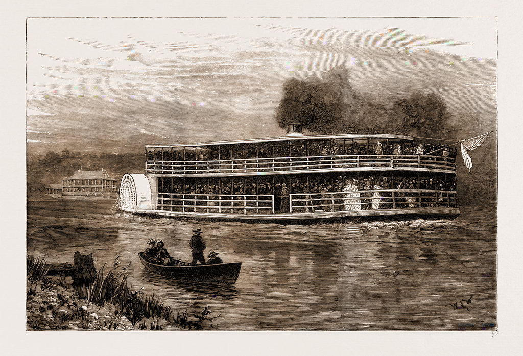 The Fatal Steamboat Disaster In Canada, 1881: The victoria Starting From Springbank