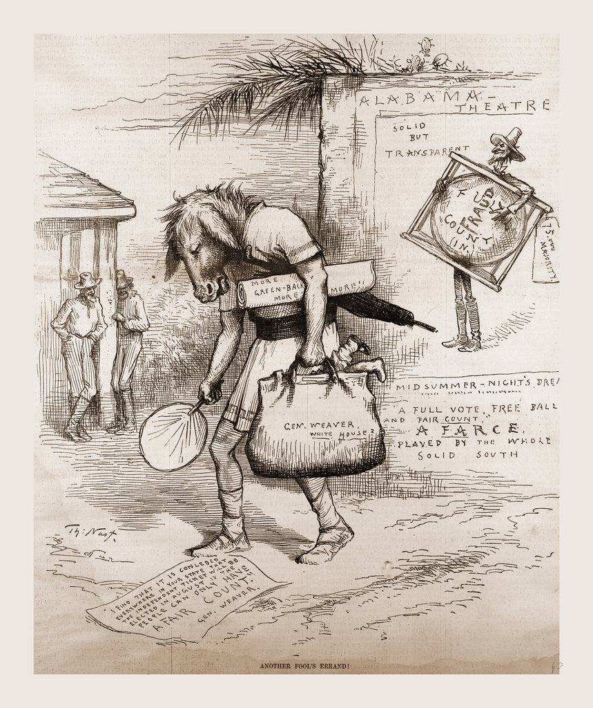 Greenback, the Weaver. Mali Is But An Ass If He Go About to Expound His Dream, Shakespeare, 1880