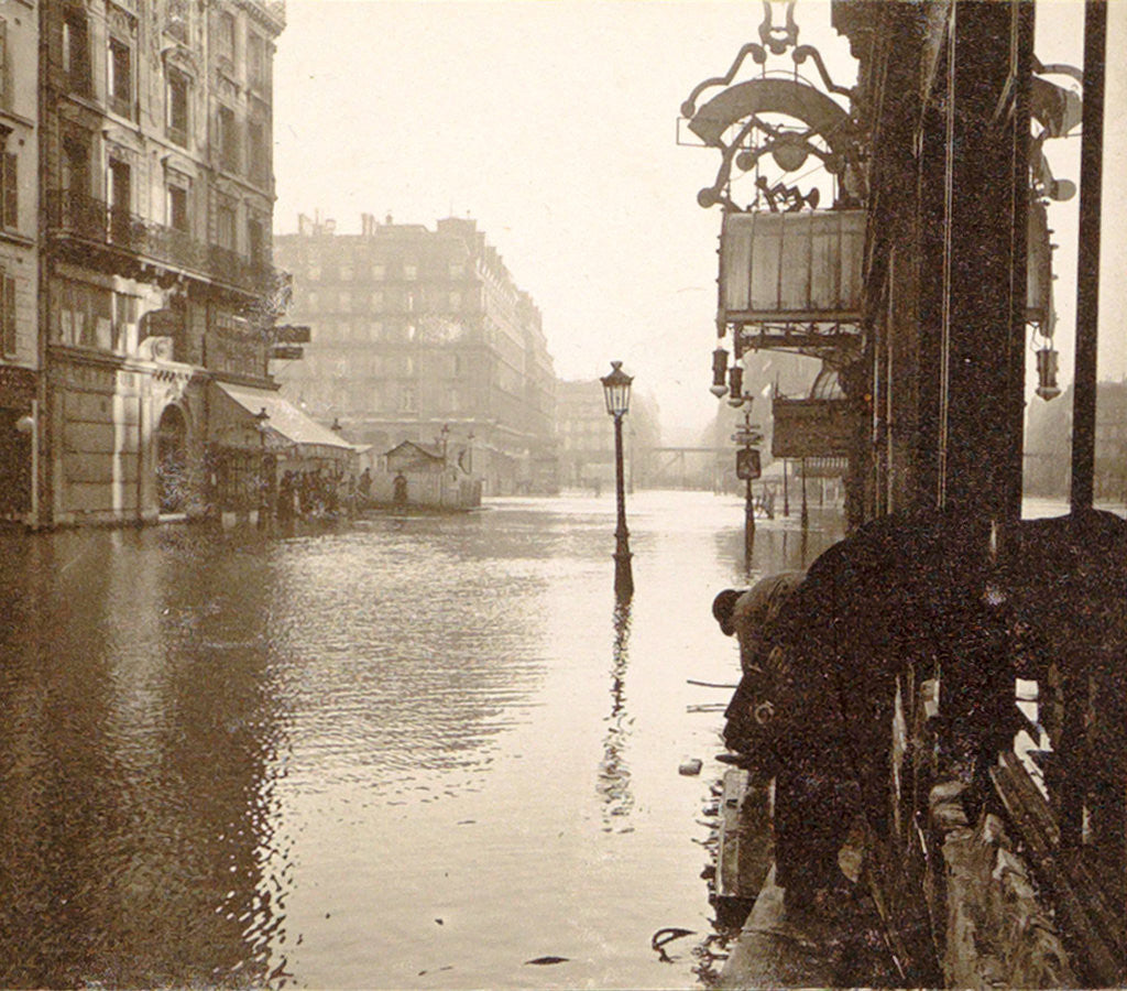 Detail of album flooding Paris suburbs in 1910, France by Anonymous