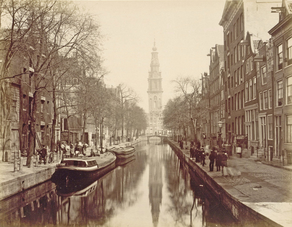 Detail of Amsterdam, Groenburgwal Canal by Anonymous