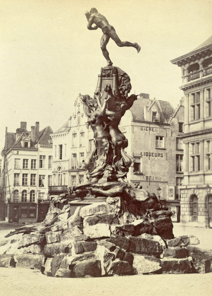Detail of Brabo Fountain, Antwerp by Anonymous