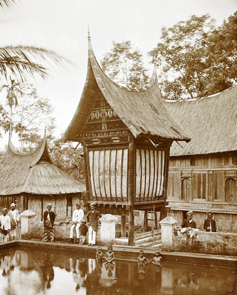 Detail of Batipoeh, Indonesia by Christiaan Benjamin Nieuwenhuis