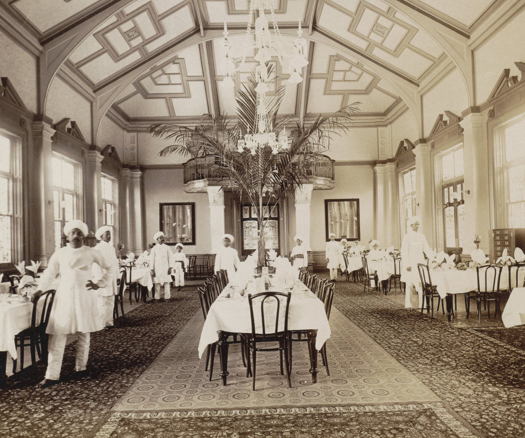 Detail of Africa, Royal Hotel dining room interior in Durban Natal, South Africa by Anonymous