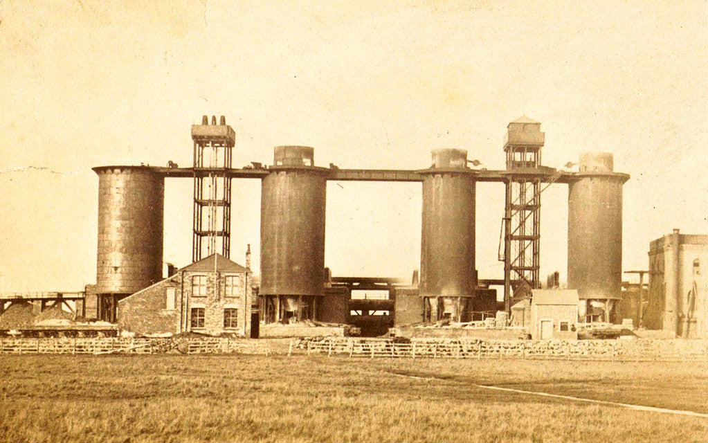 Detail of Blast furnaces for steel production in the factory of Bolckow, Vaughan & Co. Ltd. in Middlesbrough UK by Anonymous