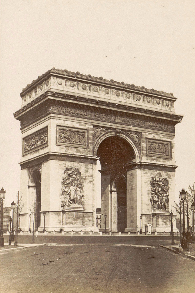 Detail of Arc de Triomphe in Paris, France by Anonymous