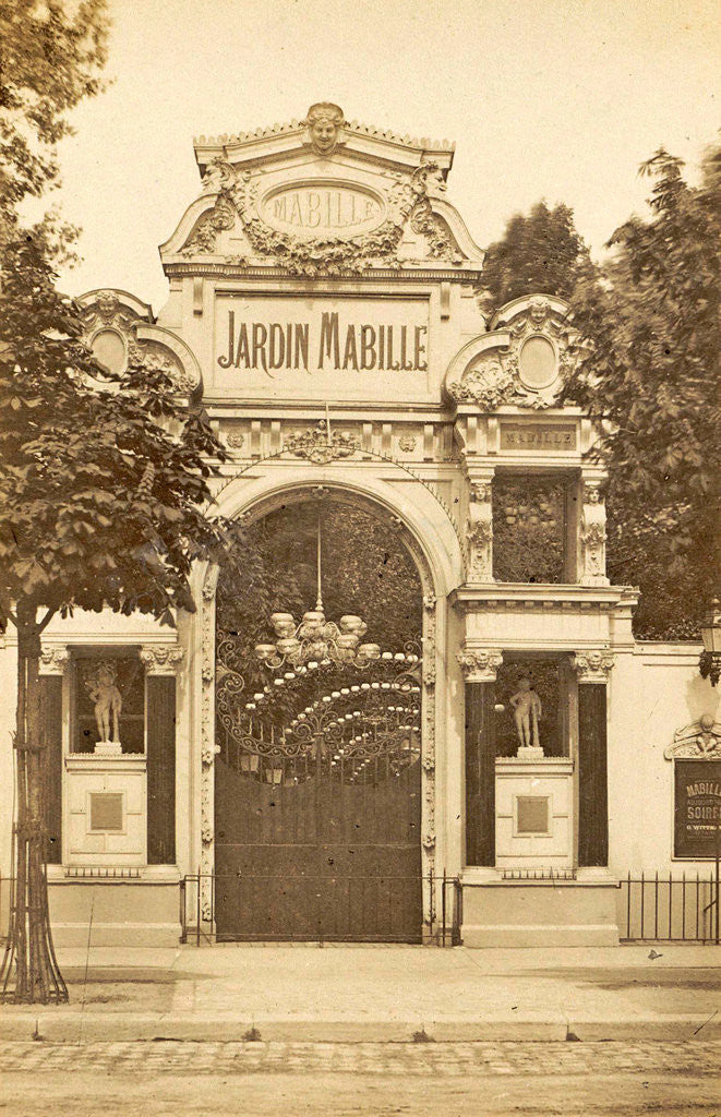 Detail of Entrance Jardin Mabille, a dance hall in Paris, France by Anonymous