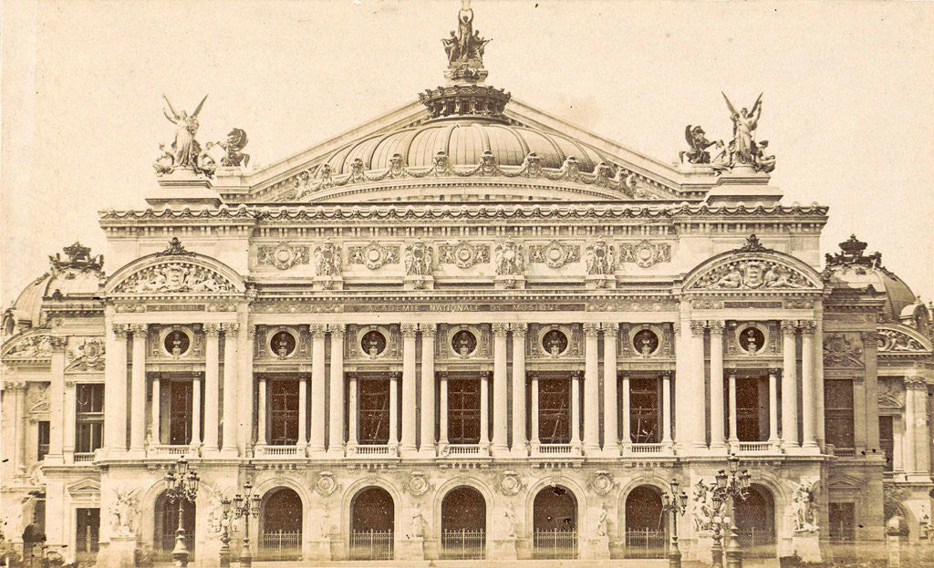 Detail of front of the Opera in Paris, France by Anonymous