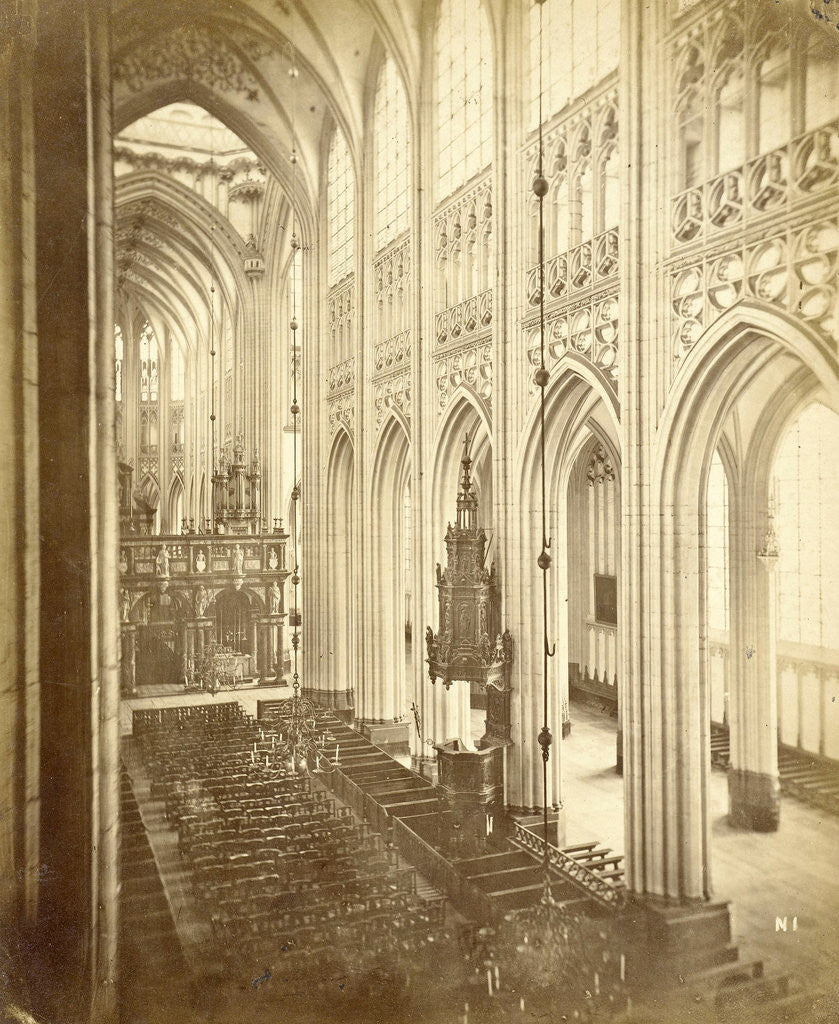 Detail of Interior of St. Jan 's-Hertogenbosch by A.G. Schull