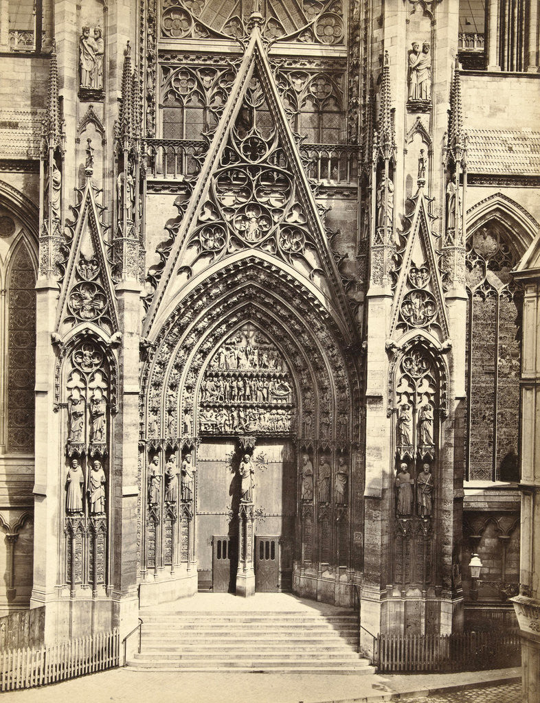Detail of Façade of Notre Dame in Rouen France by Anonymous