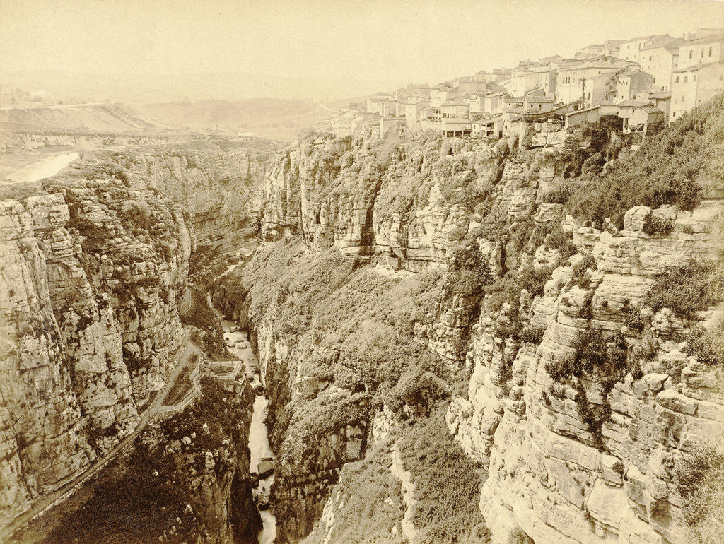 Detail of Gorge in Algeria by Étienne Neurdein