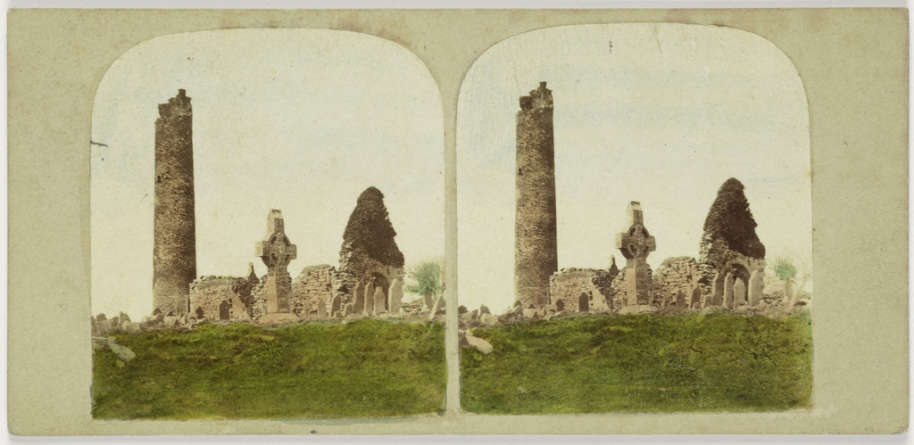 Detail of General view of the Antiquities of Monasterboice, County Louth. Ireland by Anonymous