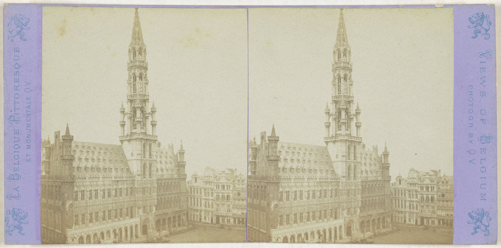 Brussels General view of City Hotel by Jules Queval