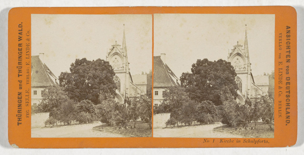 Church in Schulpforta, Germany by H. Selle & E. Linde & Co