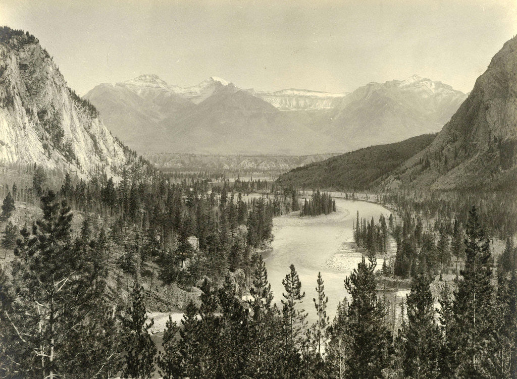 Detail of Face on Bow Valley in Alberta by William Notman