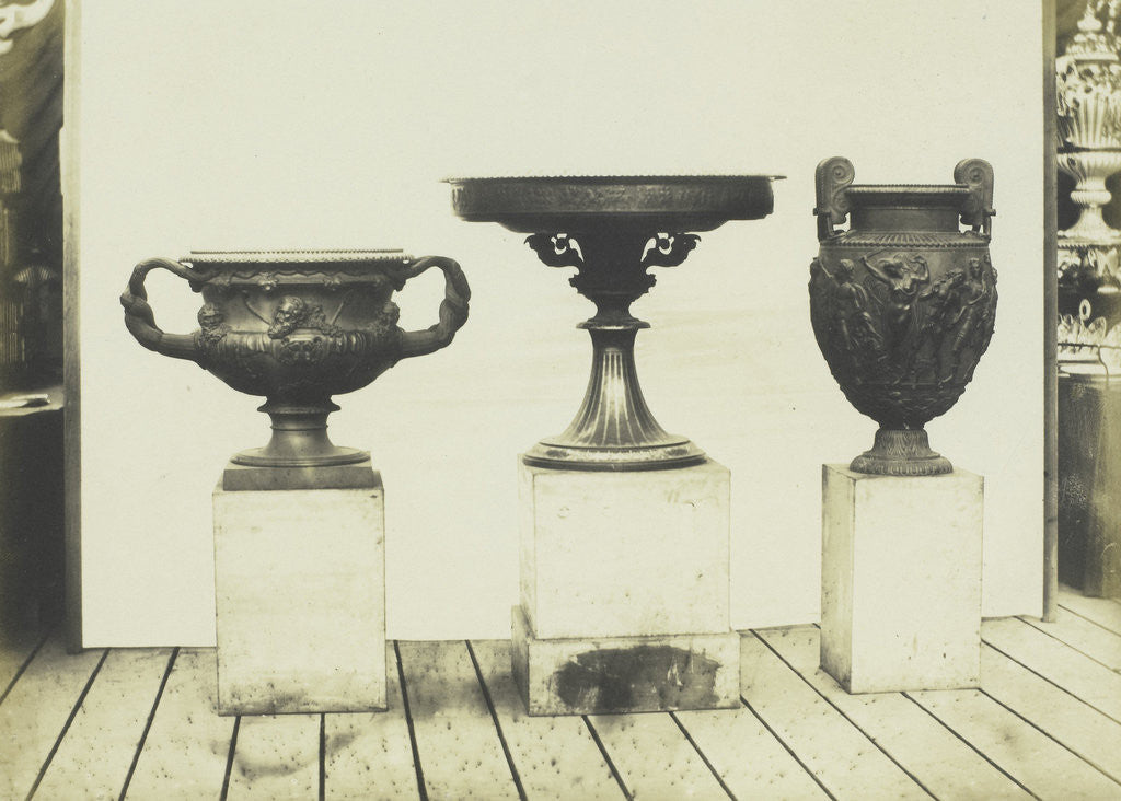 Detail of Cast Iron Vases by C.M. Ferrier & F. von Martens