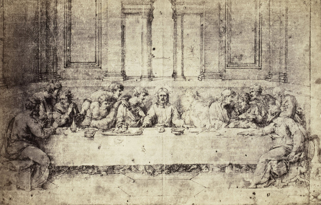Detail of Drawing Raphael from Windsor Castle, The Last Supper by Charles Thurston Thompson