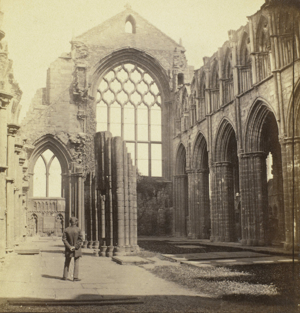 Detail of Holyrood Abbey; Interior UK by George Washington Wilson