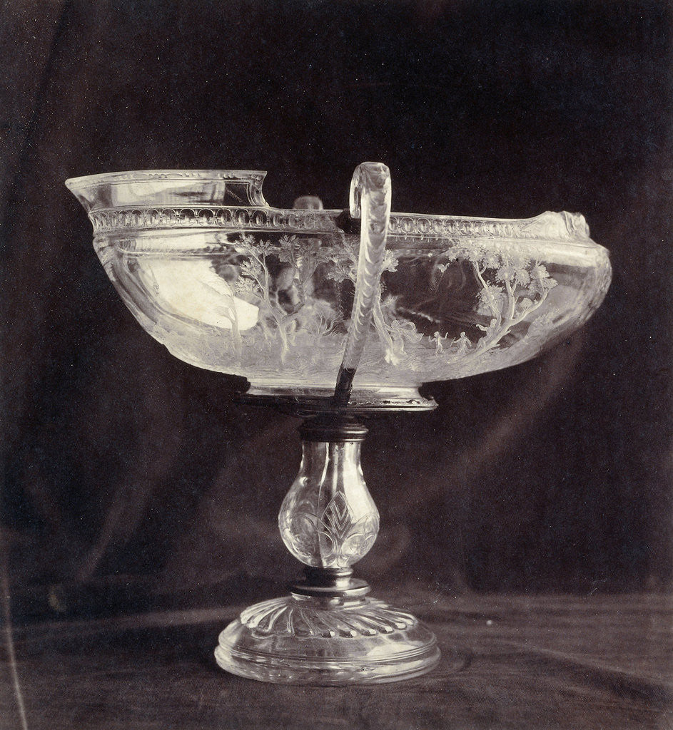 crystal bowl engraved on foot, from the Louvre by Charles Thurston Thompson