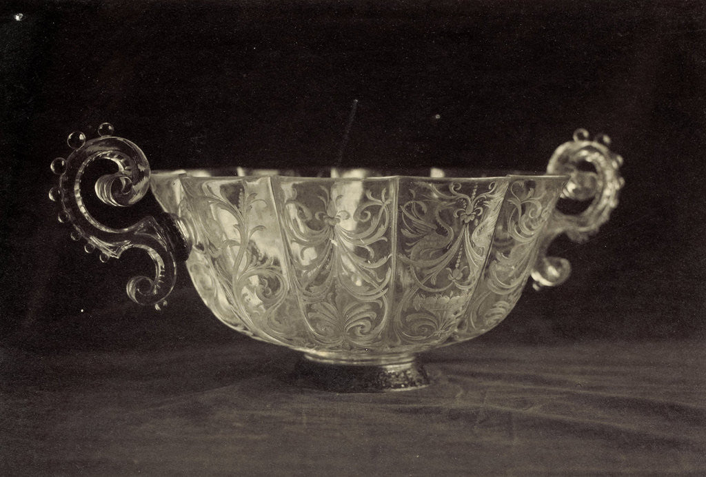 Detail of Crystal bowl engraved with scrolls, from the Louvre by Charles Thurston Thompson